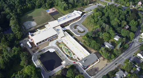 Aerial view of Center School grades k-5. File photo