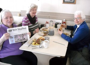 Betty Mascia, Mary Yungman and Joanne Petito, along with the Stow Independent were  part of the group from the COA that goes once a month to a different diner.  This month we went to Carl's Diner in Oxford, MA.   This was one of the favorites and revisited.  The meals are HUGE and really delicious – from omelets, pancakes with strawberry or blueberry topping, bacon, fried potatoes, sausages, kielbasa, complete meatloaf dinner, etc.  and most everyone came home with leftovers.