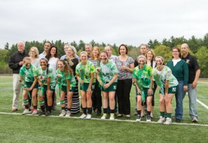 The lacrosse team's seniors and their parenst were honored at Thursday night's game.  Graduating this year are:  Samantha O'Connor, Cori Gillen,  Abbie McCaffrey, Laurel Gumbart, Flora Tierney, Kirstin Noonan and Brittany Joseph.                                         Adrian Flatgard; frequentflyerphotographer@gmail.com