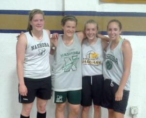 Summer basketball participants (l-r) Erin Cressman, Anna Cressman, Afton Burrell, and Danielle Scafidi.                                                        Michael LeClair