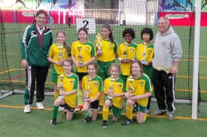 Pictured above, from the winter season, GU10 Indoor champs                                                                                            Courtesy