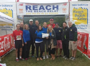 "The ""STOW POKES"" finished the 207 miles and ""Reached the Beach"", again!  John Clopeck, Dave Antes, Lisa Williams, Eric Lemieux, Mike Perisho, Jody Marsteiner, Amy Davagian, Chris Streeter, Ann Sabourin, Kevin Cunningham, Chris Dibello and Eric Kerble"