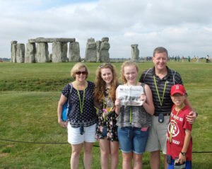 Russ, Debi, Caroline, Rachel and Christian Estey brought the Independent to Stonehenge in Amesbury, England. The family spent two weeks visiting England, Scotland and France this past July.
