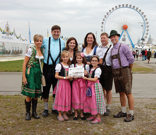 The Dugas and Reiner families joined the Gorman family, formerly of Stow, in Munich, Germany for the city's annual Oktoberfest celebration.  The girls enjoyed the rides, while the adults enjoyed plenty of beer and  Bavarian food!  The 16-day festival attracts more than 6 million visitors from around the world.
