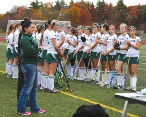 The field hockey team is headed to the Central Mass Division 1 final Thursday night.                       Athletic Director Tania Rich is seen at far left.                Susan Shaye; www.susanshaye.com