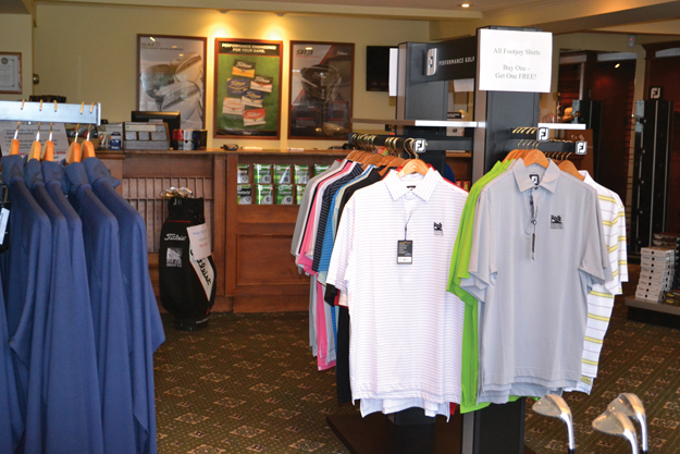 Some of the merchandise at the Stow Acres Golf Store. And that's just one of many places to do your shopping in Stow.                                                                            Ann Needle