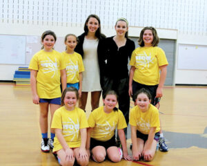 The Stow Lemons youth basketball team. Back row: Maura Hall, Ally Descoteaux, coach Hanna Drugge, coach Rachel Farley, Vivien Stringfellow, Front row: Taylor Murray, Phoebe Gero, Sophie Jarger                                  Susan Shaye; www.susanshaye.com