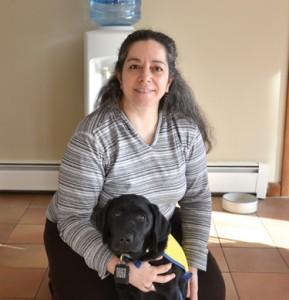 Leslie Zelamsky and assistance dog-in-training, Bryn.                               Ann Needle