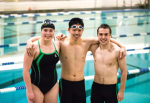 Co-captains Meredith Nash, Steven Jiang and Austin Tarullo.   Adrian Flatgard; frequentflyerphotographer@gmail.com
