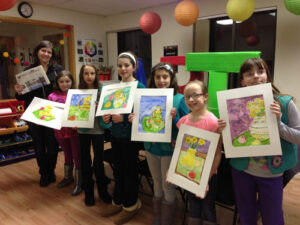 Girl Scouts Troop 72516 visited Donovan Art Studio on Monday, March 9 where they experimented with watercolor art.  The girls painted flowers in vases. Pictured above with the Stow Independent and exhibiting their creations are Kristen Donovan, Caroline Kotosky, Ally Descoteaux, Maura Hall, Emily DiMeo, Sophie Colbert and Alex Soeltz.