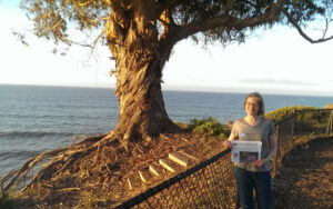 Laura Reiner and Guy Washburn escaped the endless winter to visit family in Santa Barbara in March.