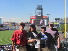 Warren and Brenda Mason and the Stow Independent visited former Stow residents Bob and Betty Kaseta in Denver, Colorado where they attended a Rockies game. The Masons also visited the Arizona Diamondbacks on this trip so that makes 27 of the 30 major league baseball parks they have visited.