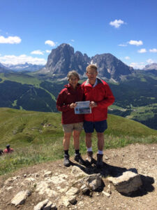Greg and Barbara Jones enjoyed hiking in the Dolomites in June, a trip they have looked forward to for 36 years, and finally made, joining British friends they knew during their two-year time living in Tehran in the 1970's. The area is so beautiful, it was well worth the wait!