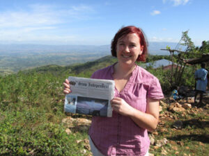 Meg Hastings took the Stow Independent with her to Mourne Boulage, Haiti in November while visiting a medical clinic and water purification project.