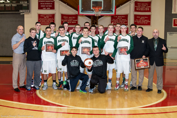 The Boys Varsity Basketball team took home the game ball for their victory in the Large School Division Finals of the invitational Clark Tournament held in Worcester Saturday night. It was only the second time Nashoba has won the tournament, with the first win back in 1977.                                                                                                                                    SusanShaye.com