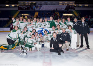 The Nashoba Varsity hockey team won their second Div. 3A State Championship in a row -  another first in the history of Nashoba hockey.                                                                                                                                                                                                              SusanShaye.com  photo