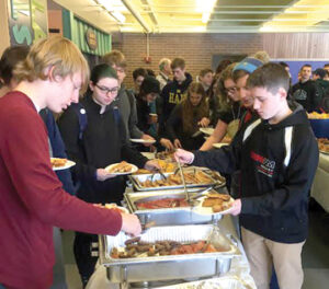 Members of the Class of 2019 enjoy a victory breakfast.                                          Courtesy