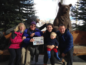 "Edmund and Corinne Green met up with daughter Vanessa Sinders, Chip and Will (15 months old) for some skiing and babysitting in Jackson Hole, Wyoming. The scenery was glorious, weather was perfect and the mountain ""steeps"" lived up to their reputation!"