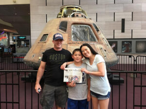 Andy, Kumi, and Jason Ladd took the Stow Independent to Washington D.C. during school vacation week.  Here we are at the Smithsonian Air and Space museum.