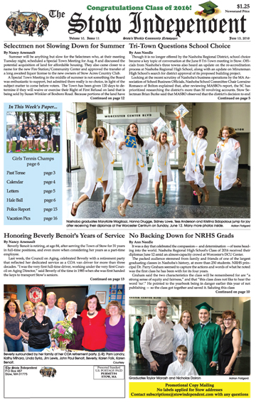 In This Week's Print Edition… June 15, 2016