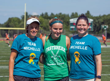 Coach Jaime Mariani, Nashoba Captain Sarah Johnson, Nashoba Athletic  Director Tania Rich                                                                    SusanShaye.com