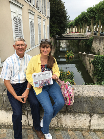 "Bill and Mary Ann Hofmann returned to Montargis, France where they lived while Bill served as a liaison officer to the French Army Telecommunications School. Montargis, about 70 miles south of Paris, sometimes bills itself as the ""Venice of the Gâtinais"" due to its numerous canals and bridges and still retains a medieval charm in the downtown area."