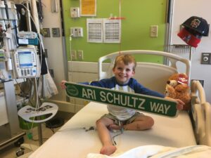 Ari at Boston Children's Hospital prior to his heart transplant. <p>Courtesy the Schultz Family