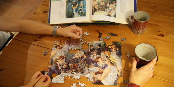 Piecing together a puzzle party… Feb. 14, 2018